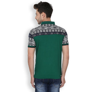 Freak'N Green Polo Neck T-Shirt for Men