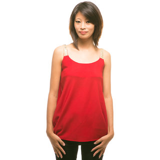 e1adcee4531e3 Buy Red embellished strappy party top Online - Get 69% Off