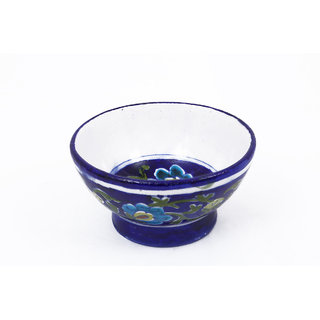 Creative Craft Blue Pottery BOWL Home Decorative Handicraft Gift