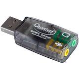 USB Sound Card Adapter USB 3D Virtual 5.1 Stereo MIC PC Desktop Laptop
