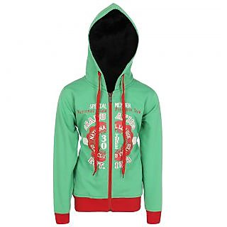 HAIG-DOT Parrotgreen Hoodie Sweatshirt for Girls