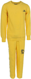 HAIG-DOT Yellow Round Neck Tracksuit for Girls