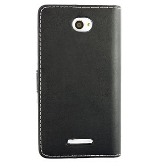 Emartbuy Phone Sony Xperia E4 Case Wallets/Flips Black Plain