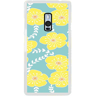 ifasho Animated Pattern flower with leaves Back Case Cover for OnePlus 2