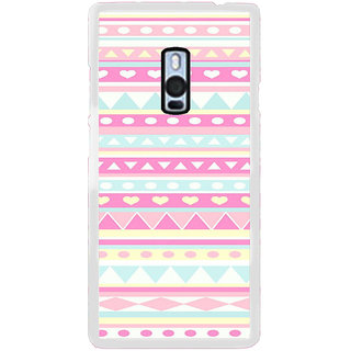 ifasho multi color Triangular and love Pattern Back Case Cover for OnePlus 2