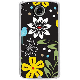 ifasho Animated Pattern colrful flower and butterfly Back Case Cover for Motorola Google Nexus 6