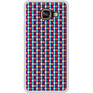 ifasho Colour Full Square Pattern Back Case Cover for Samsung Galaxy A7 (2016)