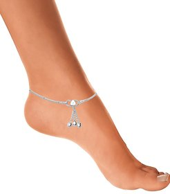 Pair of German Silver Anklet by Sparkling Jewellery