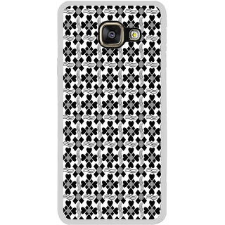 ifasho Animated Pattern design black and white flower in royal style Back Case Cover for Samsung Galaxy A7 (2016)