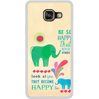 ifasho life Quotes on happiness Back Case Cover for Samsung Galaxy A7 (2016)