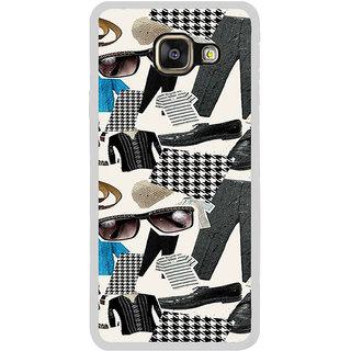 ifasho Modern Art Design Pattern man dress shoes spec belt Back Case Cover for Samsung Galaxy A5 (2016)