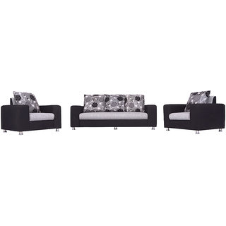 Bharat Lifestyle - Ocean (3+1+1) Sofa Set Black Grey  Fabric