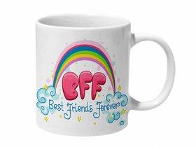 Mooch Wale Best Friends Forvever Rainbow Ceramic Mug