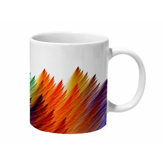 Mooch Wale Feathers Colorful Ceramic Mug