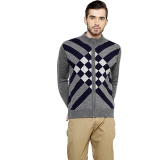 Freak'N Grey High Neck Pullover for Men