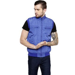 Freak'N Blue Solid/Plain Jacket for Men