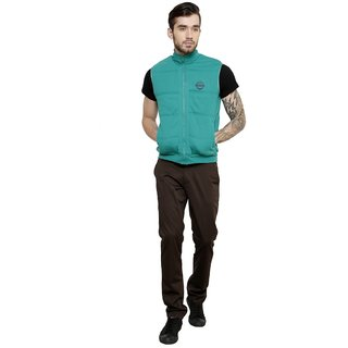 Freak'N Green Solid/Plain Jacket for Men