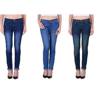 LONDON LOOKS Regular Women's Multicolor Jeans (Combo of 3)