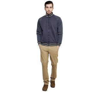 Freak'N Grey Solid/Plain Jacket for Men