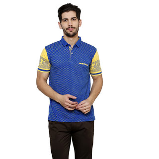 Freak'N Blue Polo Neck T-Shirt for Men
