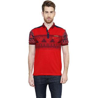 Freak'N Red Polo Neck T-Shirt for Men