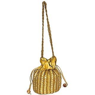 gold potli bag