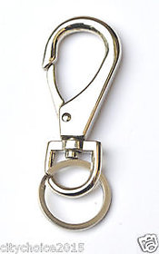 Ezzideals Metal Hook  Locking keychain , keychain with hook/ carabiner