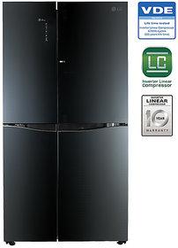 LG 679 L GC-M247UGLB Door In Door DoosR Dooe Refrigerator - LUMINOUS BLACK (Available in Delhi NCR Only )