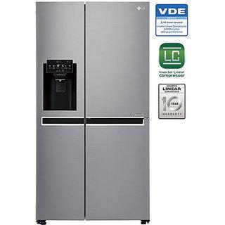 LG 668 L GC-L247SLUV Side In Side SidsE Side Refrigerator - SHINEY STEEL