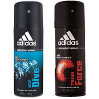 Adidas Deodorants Ice Drive and Team Force Of 150 ML Each (Set of 2) For Men