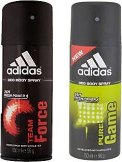 Adidas Deodorants Team Force and Pure Game Of 150 ML Each (Set of 2) For Men