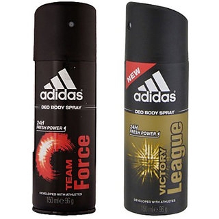 Adidas Deodorants Team Force and Victory League Of 150 ML Each (Set of 2) For Men