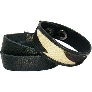Sakhi Styles Men's handmade genuine leather bracelet Combo pack .