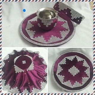 Karwachauth Special Decorated Stone Thali
