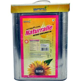 Naturralle Sunflower Oil Tin, 15 Kg