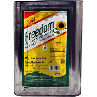 Freedom Sunflower Oil Tin, 15 Kg