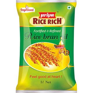 Priya Rice Rich Oil Pouch, 1 L