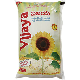Vijaya Sunflower Oil Pouch 1 L