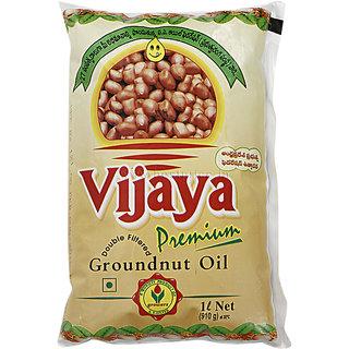 Vijaya Groundnut Oil Pouch 1 L