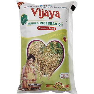 Vijaya Rice Bran Oil Pouch 1 L