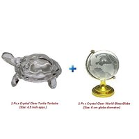 Combo Set Of Crystal Turtle Tortoise And Crystal World