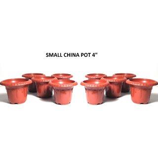 Small China Pot 4  Pack Of 3Pcs