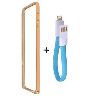 Bumper case for Motorola Moto G (3ndgen) (GOLDEN) With powerbank usb cable