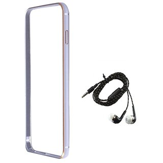 Bumper case for Samsung Galaxy s4 (SILVER) With TARANG EARPHONE