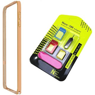 Bumper case for SAMSUNG GALAXY NOTE 2 N7100 (GOLDEN) With nano sim adapter