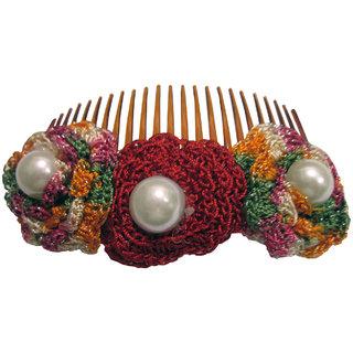 Floral Comb Pin