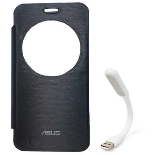 Flip Cover For Asus Zenfone 2 Laser 5.5 Ze550Kl With USB Light