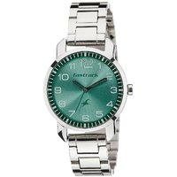 Fastrack Quartz Green Round Women Watch 6111SM02