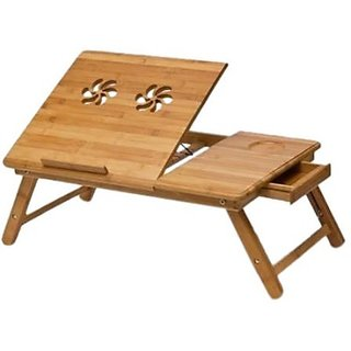 Skyshop - Elite Mkt Solid Wood Portable Laptop Table (Finish Color - Brown)