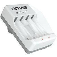 Envie Polo Cell Battery Charger 4 AA AAA Ni-MH Ni-Cd Rechargeable